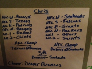 My NFL Picks